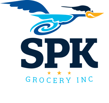 A theme logo of SPK Grocery